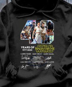 43 Years Of Star Wars Skywalker Characters Signatures Shirt Hoodie