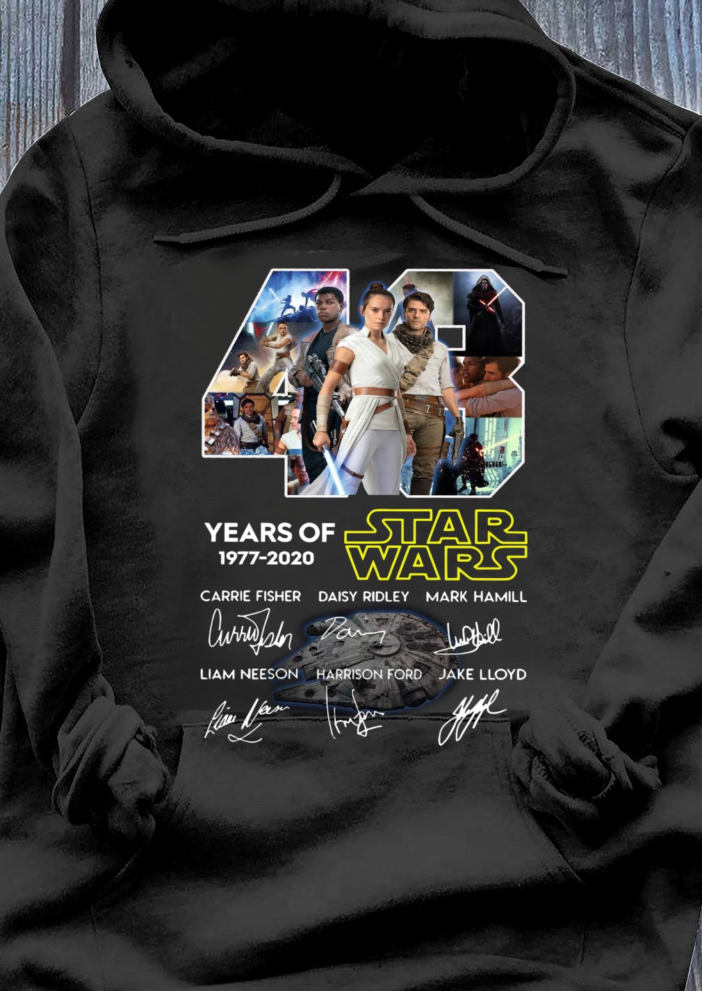 43 Years Of Star Wars Skywalker Characters Signatures Shirt Hoodie