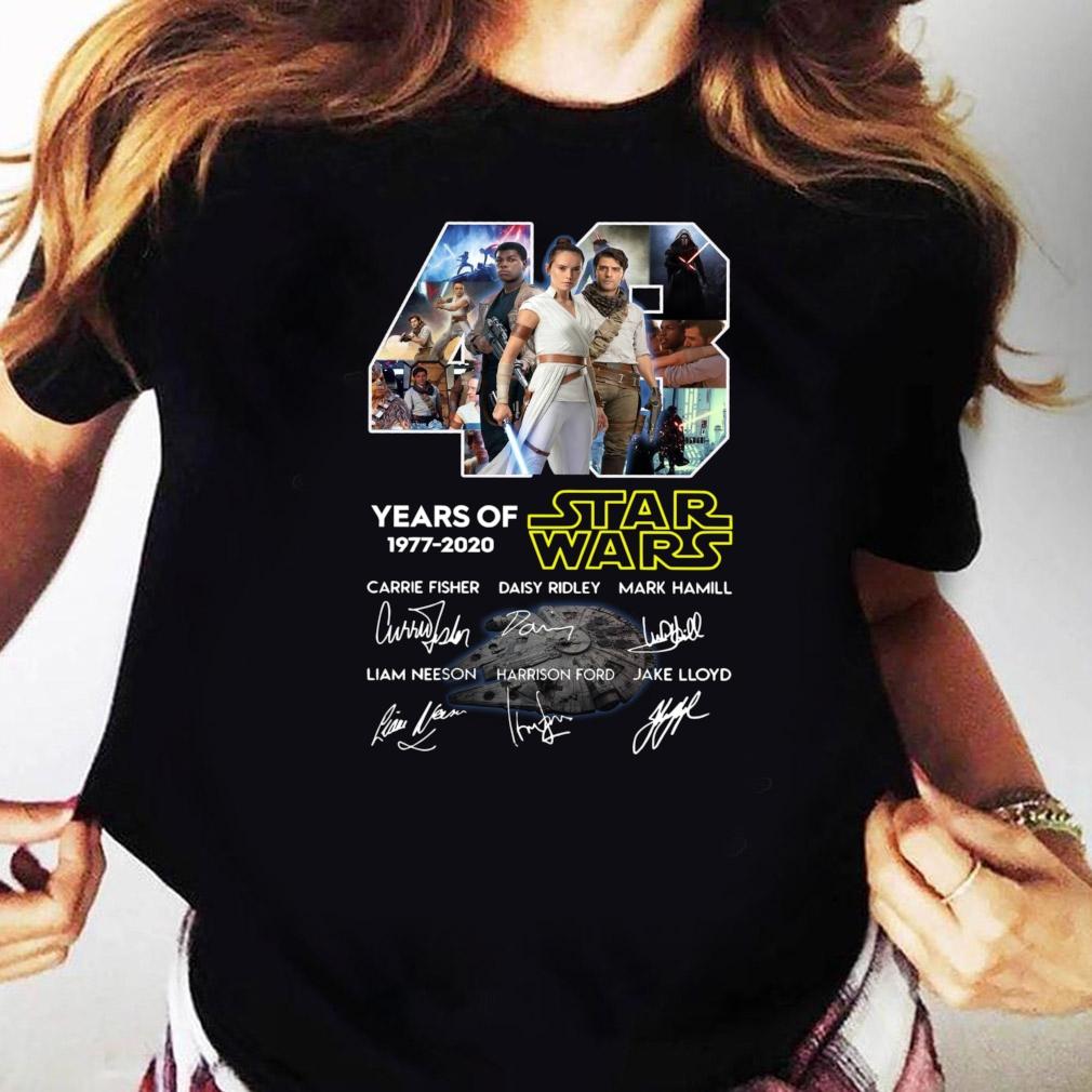 43 Years Of Star Wars Skywalker Characters Signatures Shirt Ladies tee