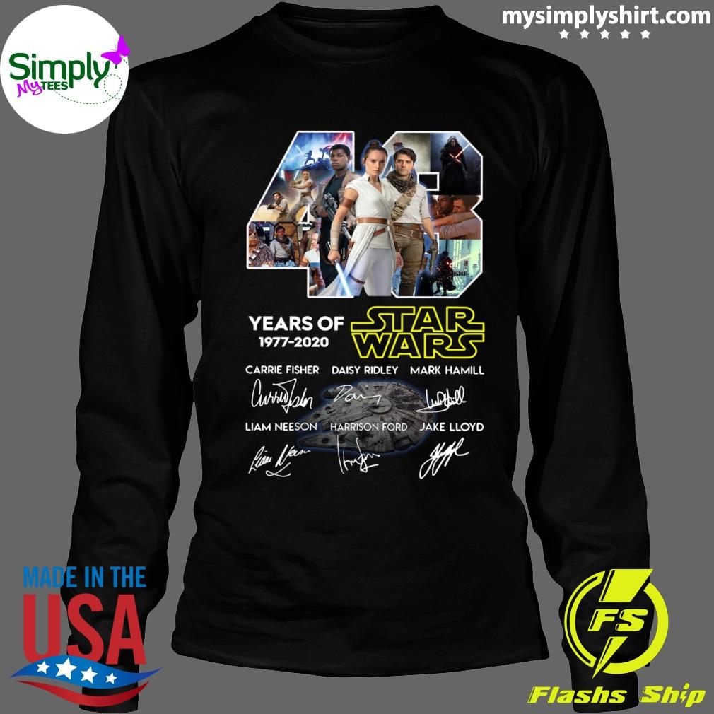 43 Years Of Star Wars Skywalker Characters Signatures Shirt Longsleeve black