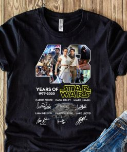 43 Years Of Star Wars Skywalker Characters Signatures Shirt