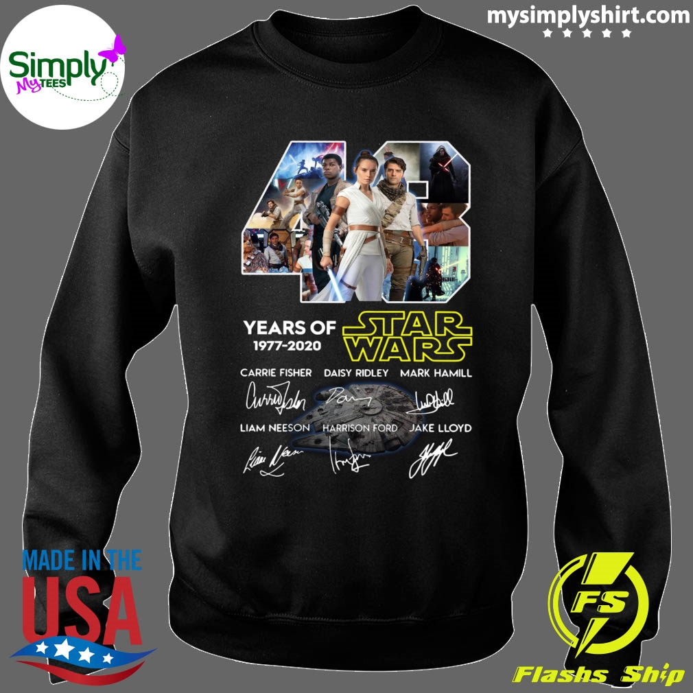 43 Years Of Star Wars Skywalker Characters Signatures Shirt Sweater