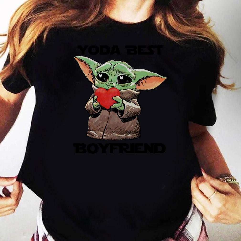 Baby Yoda Best Boyfriend Shirt Ladies tee