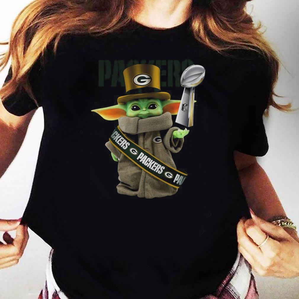 Baby Yoda Green Bay Packer Cup shirt Ladies tee