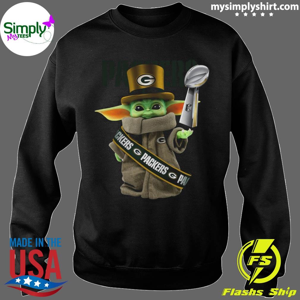 Baby Yoda Green Bay Packer Cup shirt Sweater