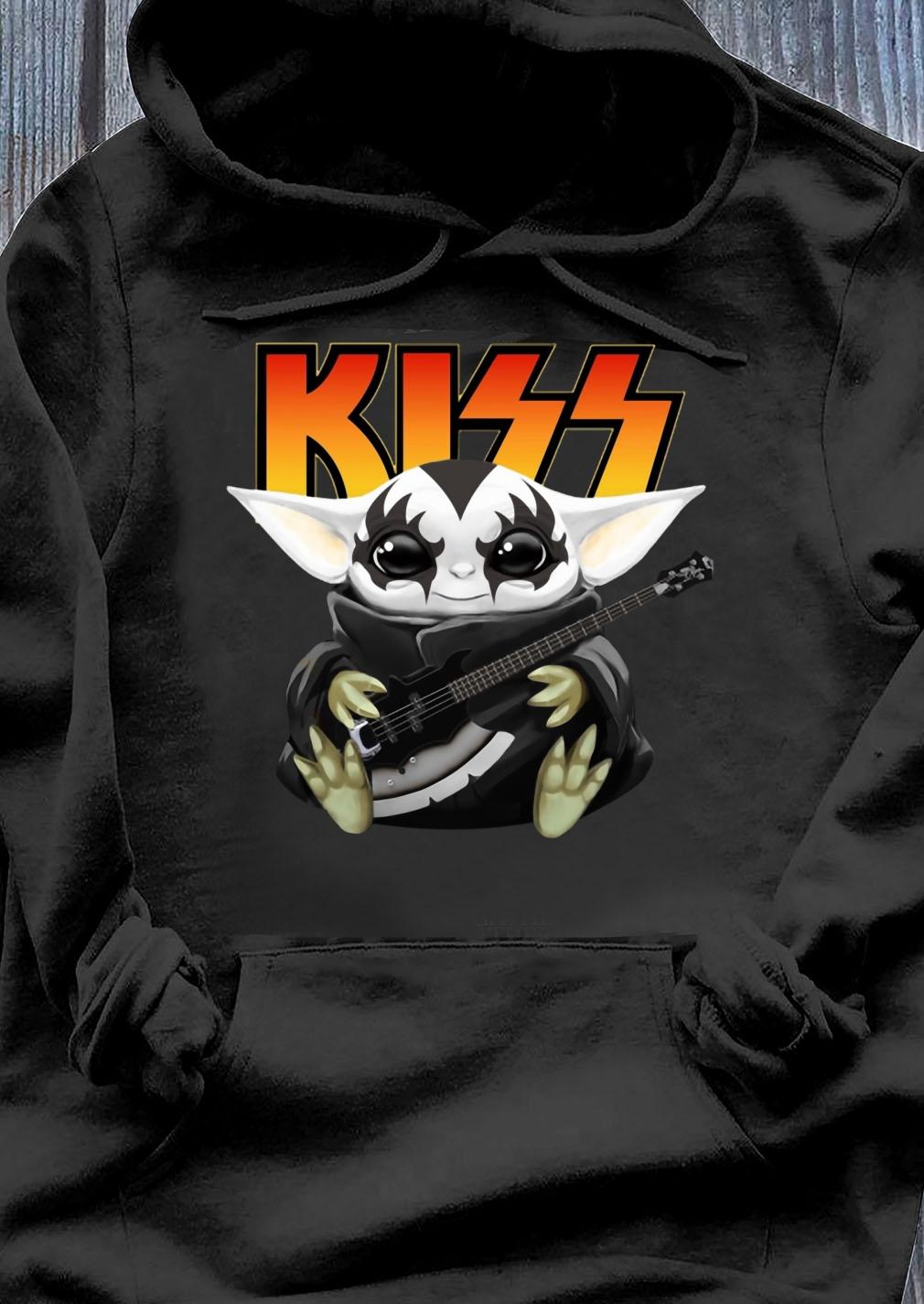 Baby Yoda Hug Kiss Guitar Shirt Hoodie