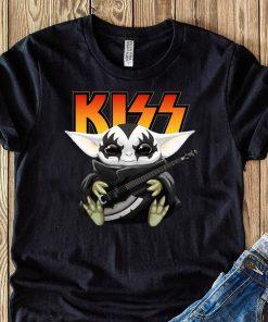 Baby Yoda Hug Kiss Guitar Shirt