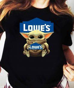 Baby Yoda hug Lowe's shirt Ladies tee