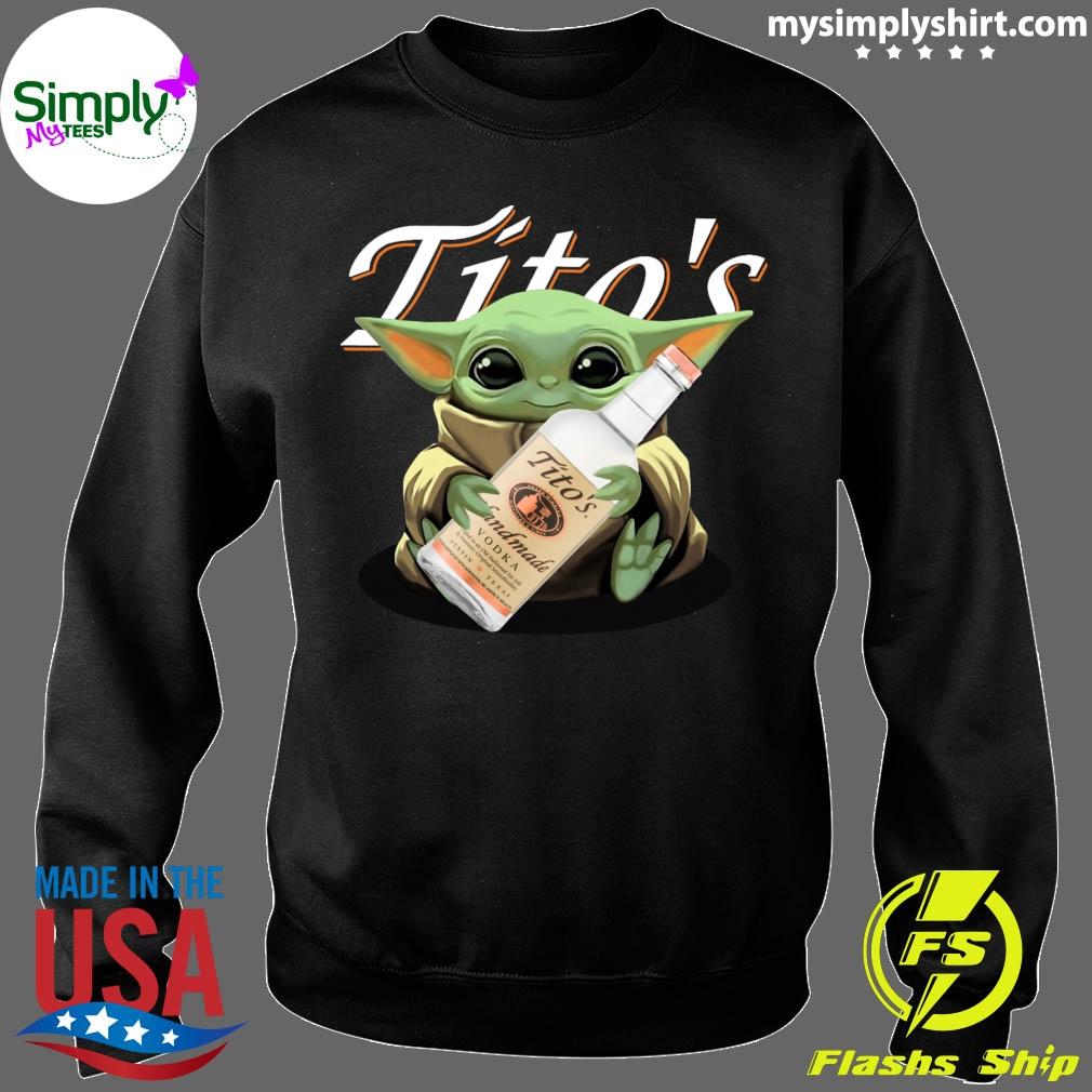 Baby Yoda Hugging Tito's Vodka shirt Sweater
