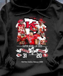 Kansas City Chiefs NFL Super Bowl Liv 2020 Vs San Francisco 49ers shirt Hoodie