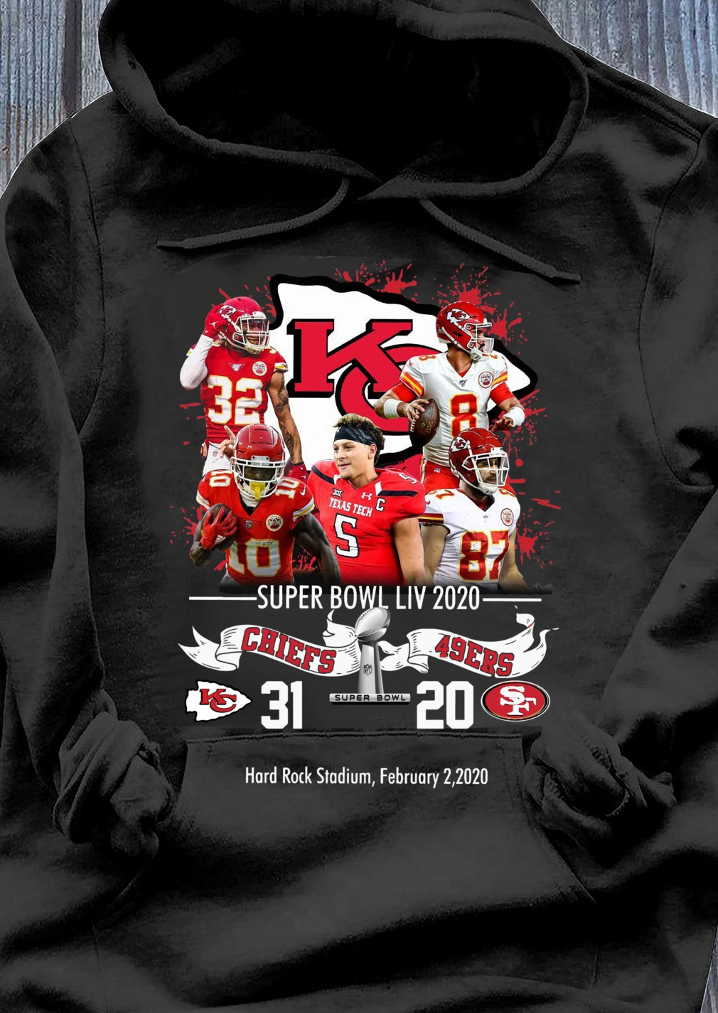 Kansas City Chiefs NFL Super Bowl Liv 2020 Vs San Francisco 49ers shirt Hoodie
