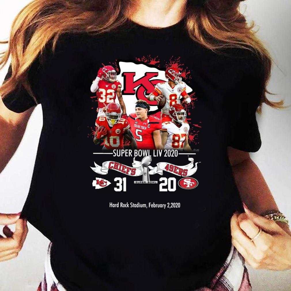 Kansas City Chiefs NFL Super Bowl Liv 2020 Vs San Francisco 49ers shirt Ladies tee
