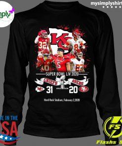 Kansas City Chiefs NFL Super Bowl Liv 2020 Vs San Francisco 49ers shirt Longsleeve black