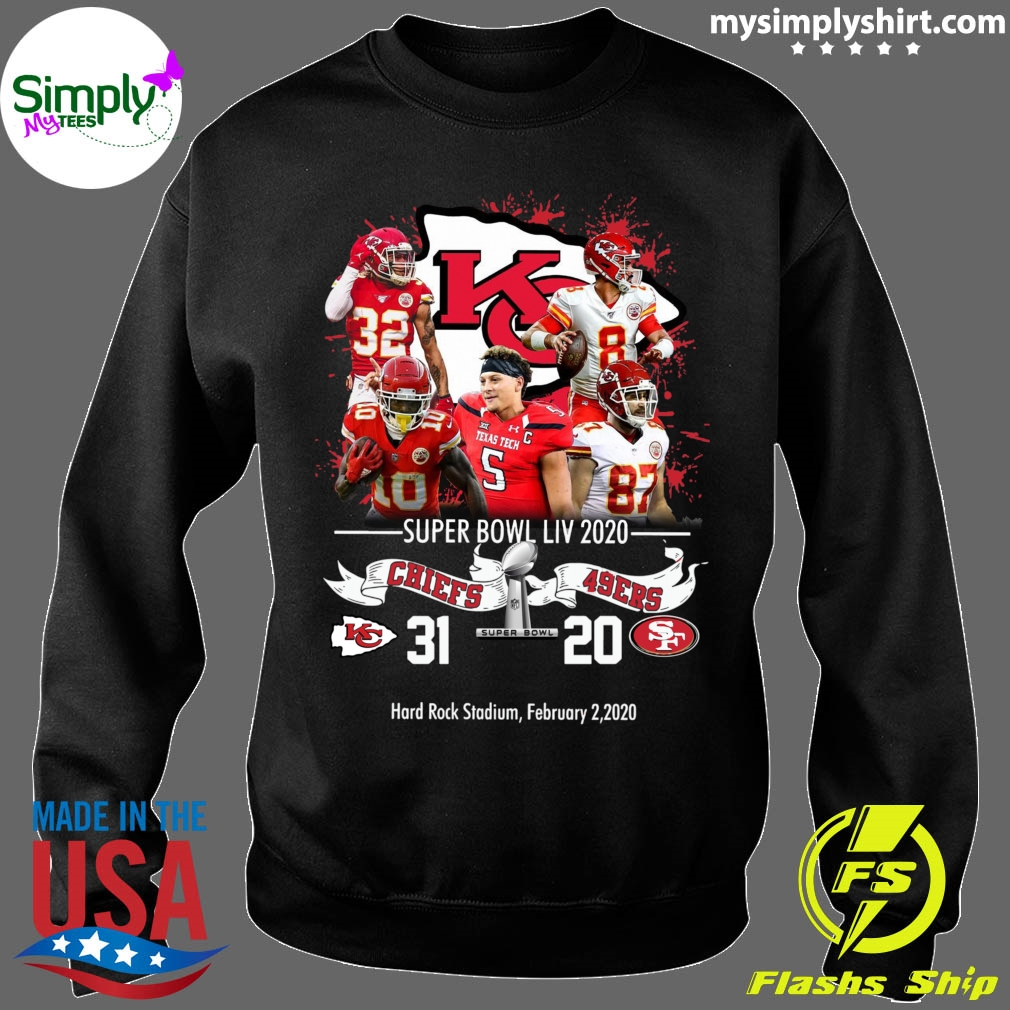 Kansas City Chiefs NFL Super Bowl Liv 2020 Vs San Francisco 49ers shirt Sweater