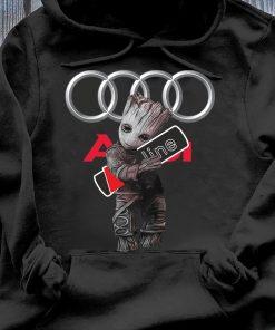Official Baby Groot hug Audi SLine shirt Hoodie