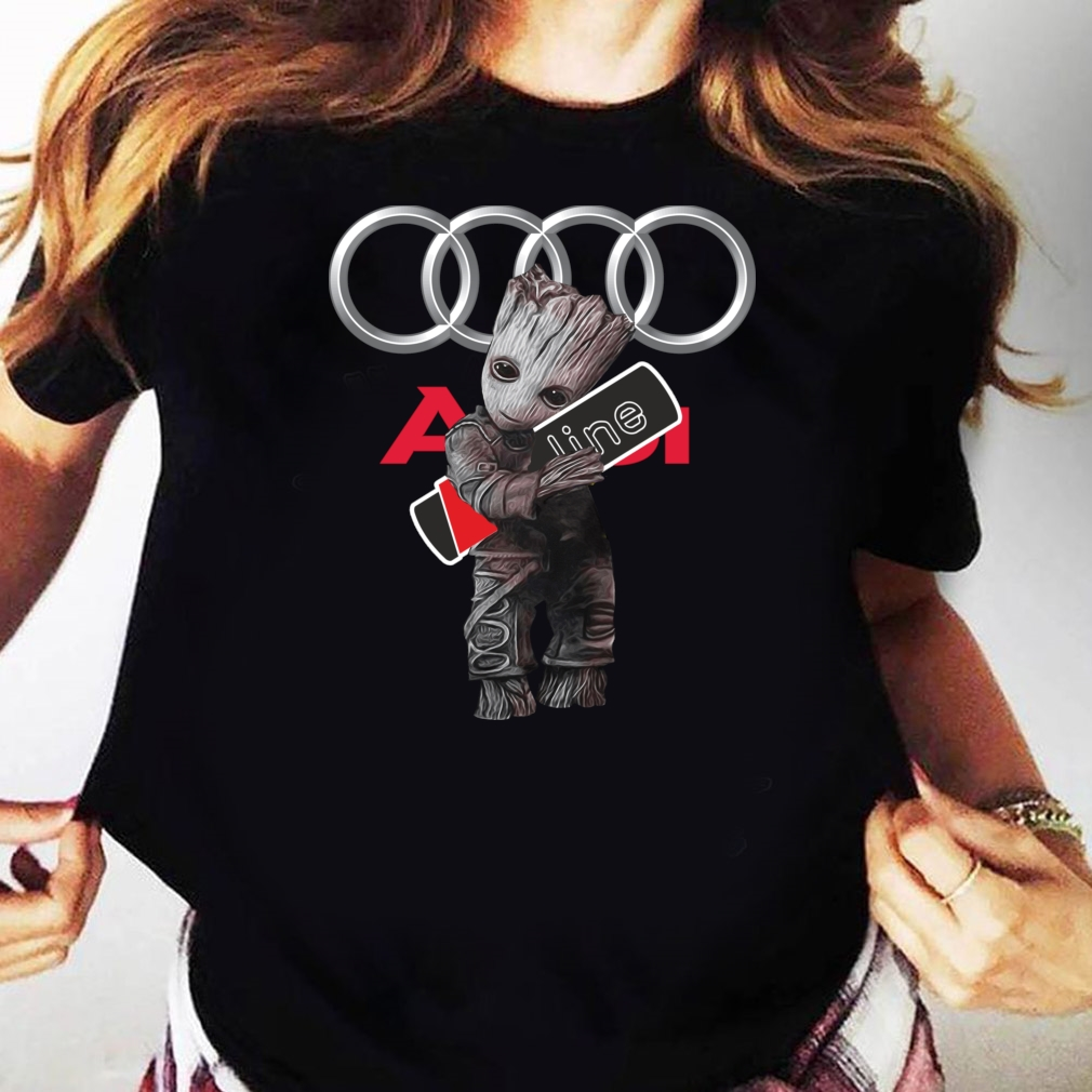 Official Baby Groot hug Audi SLine shirt Ladies tee