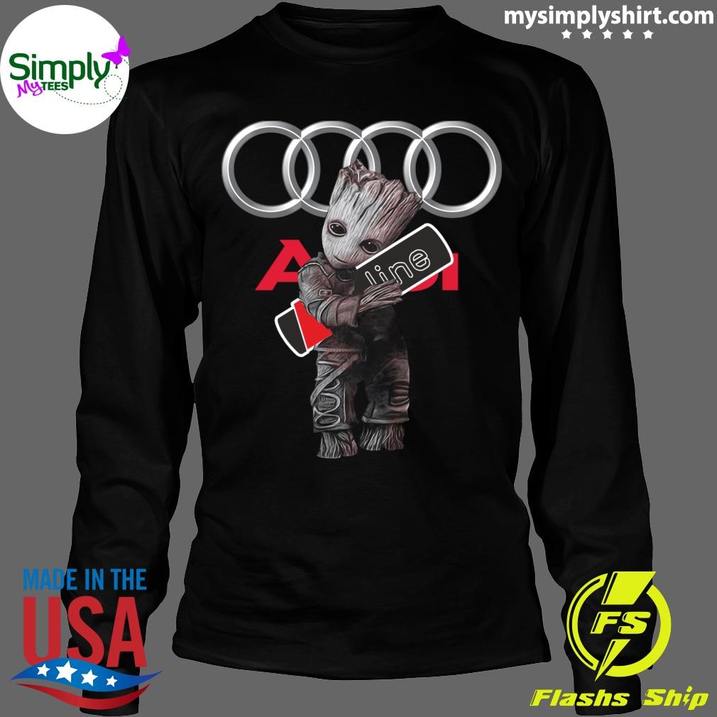 Official Baby Groot hug Audi SLine shirt Longsleeve black