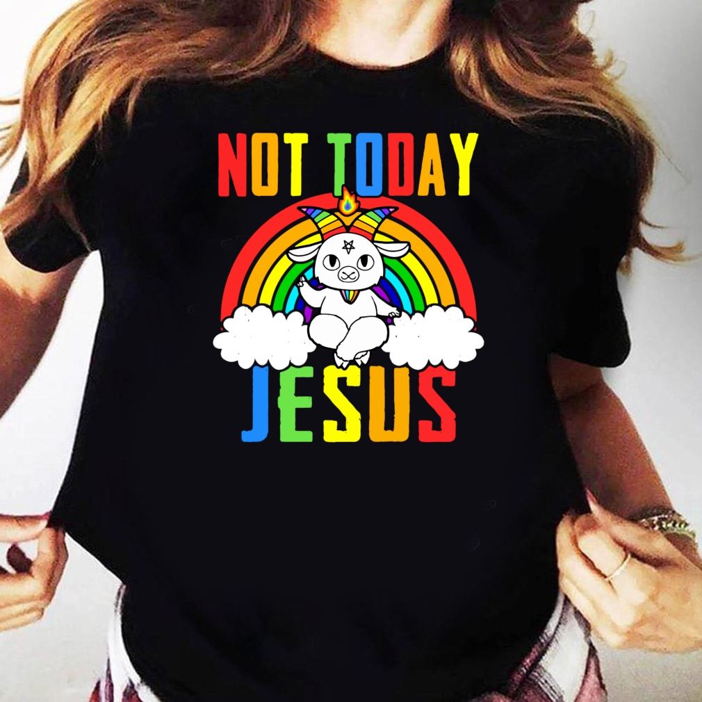 Official Unicorn Not Today Jesus Shirt Ladies tee