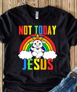 Official Unicorn Not Today Jesus Shirt