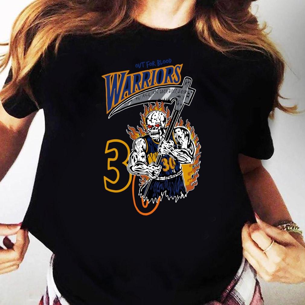 Official Warren Lotas Warriors Out For Blood Warriors Shirt Ladies tee