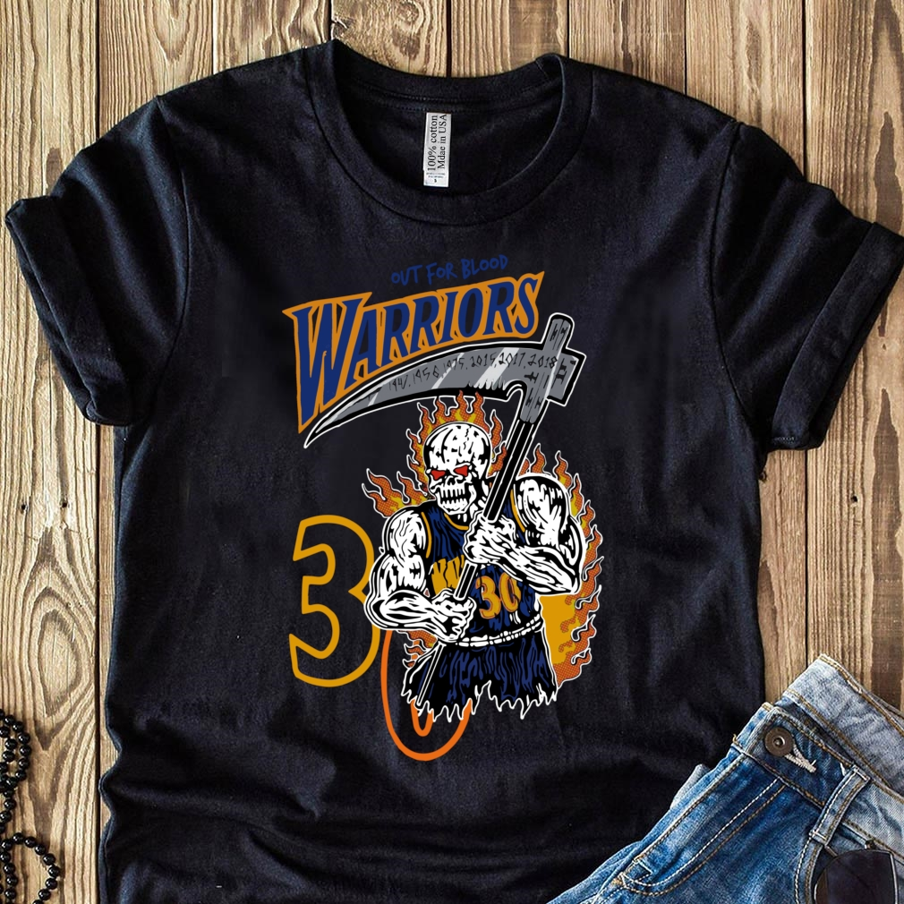Official Warren Lotas Warriors Out For Blood Warriors Shirt