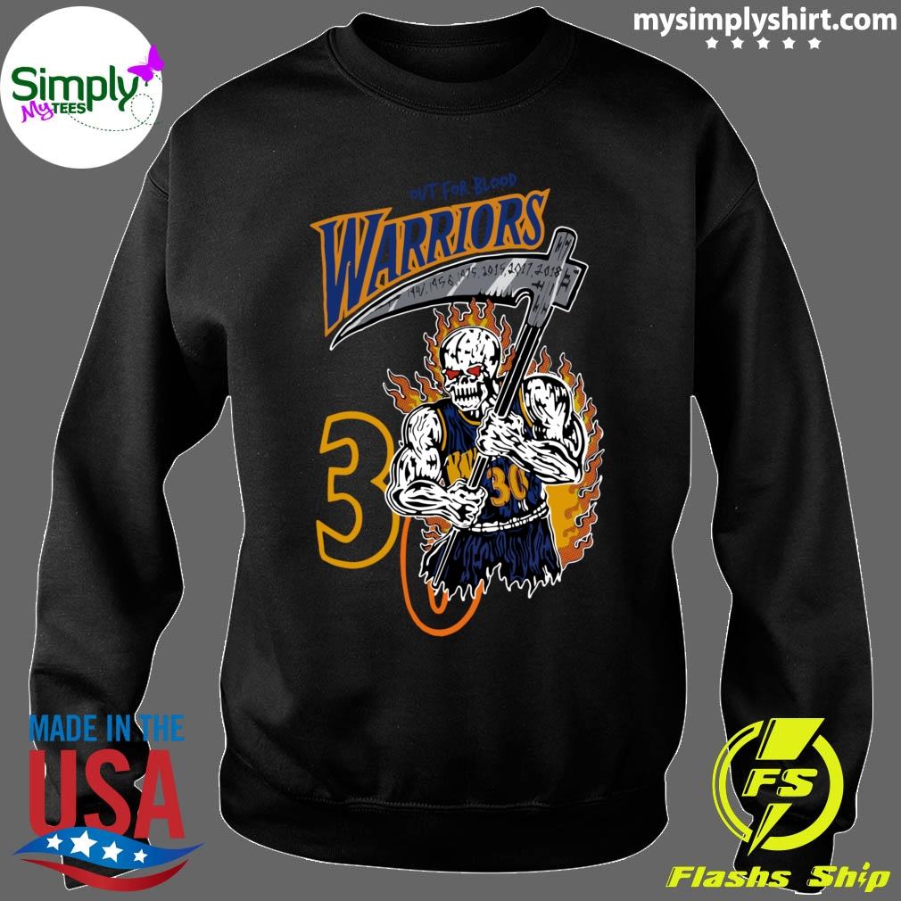 Official Warren Lotas Warriors Out For Blood Warriors Shirt Sweater