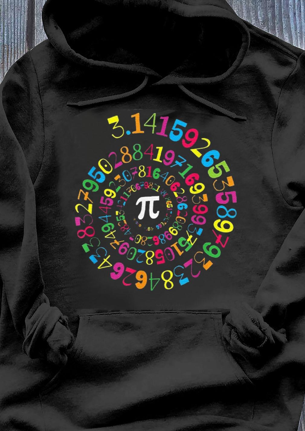 Pi Spiral Novelty Math Geek 3.14 Pi Day s Hoodie