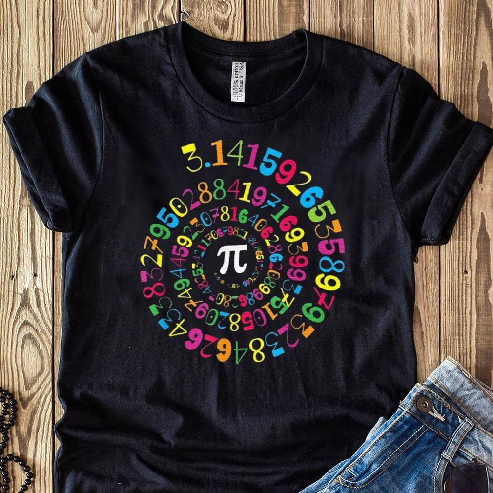 Pi Spiral Novelty Math Geek 3.14 Pi Day shirt