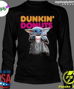 Star Wars Baby Yoda Dunkin' Donuts shirt Longsleeve black