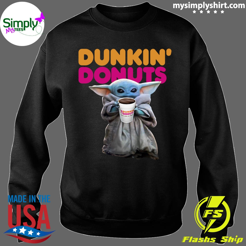 Star Wars Baby Yoda Dunkin' Donuts shirt Sweater
