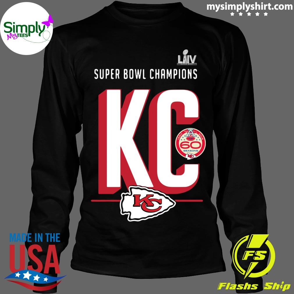 Super Bowl Liv Champions Kansas City Chiefs Hometown 2020 Shirt Longsleeve black