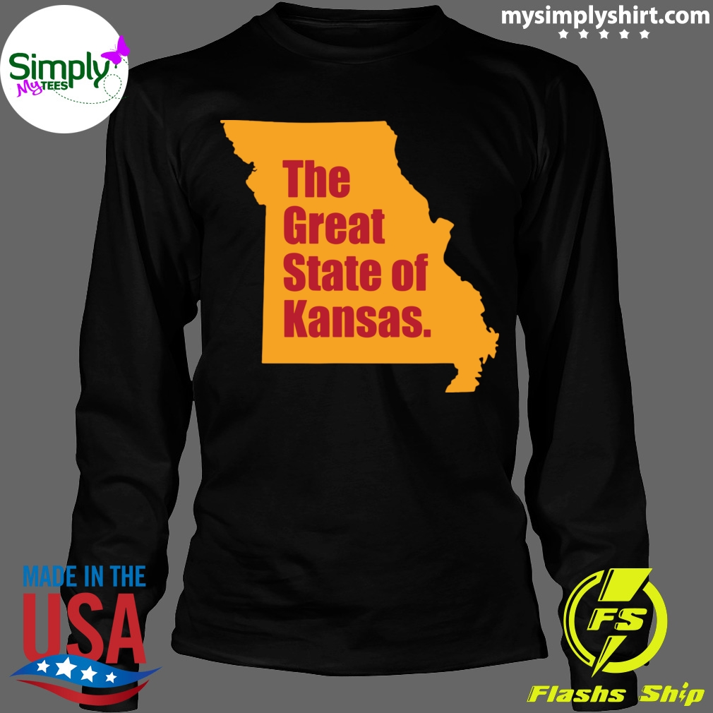The Great State Of Kansas City Chiefs Super Bowl Shirt Longsleeve black