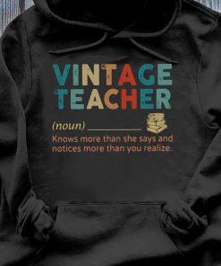Vintage Teacher Noun definition shirt Hoodie