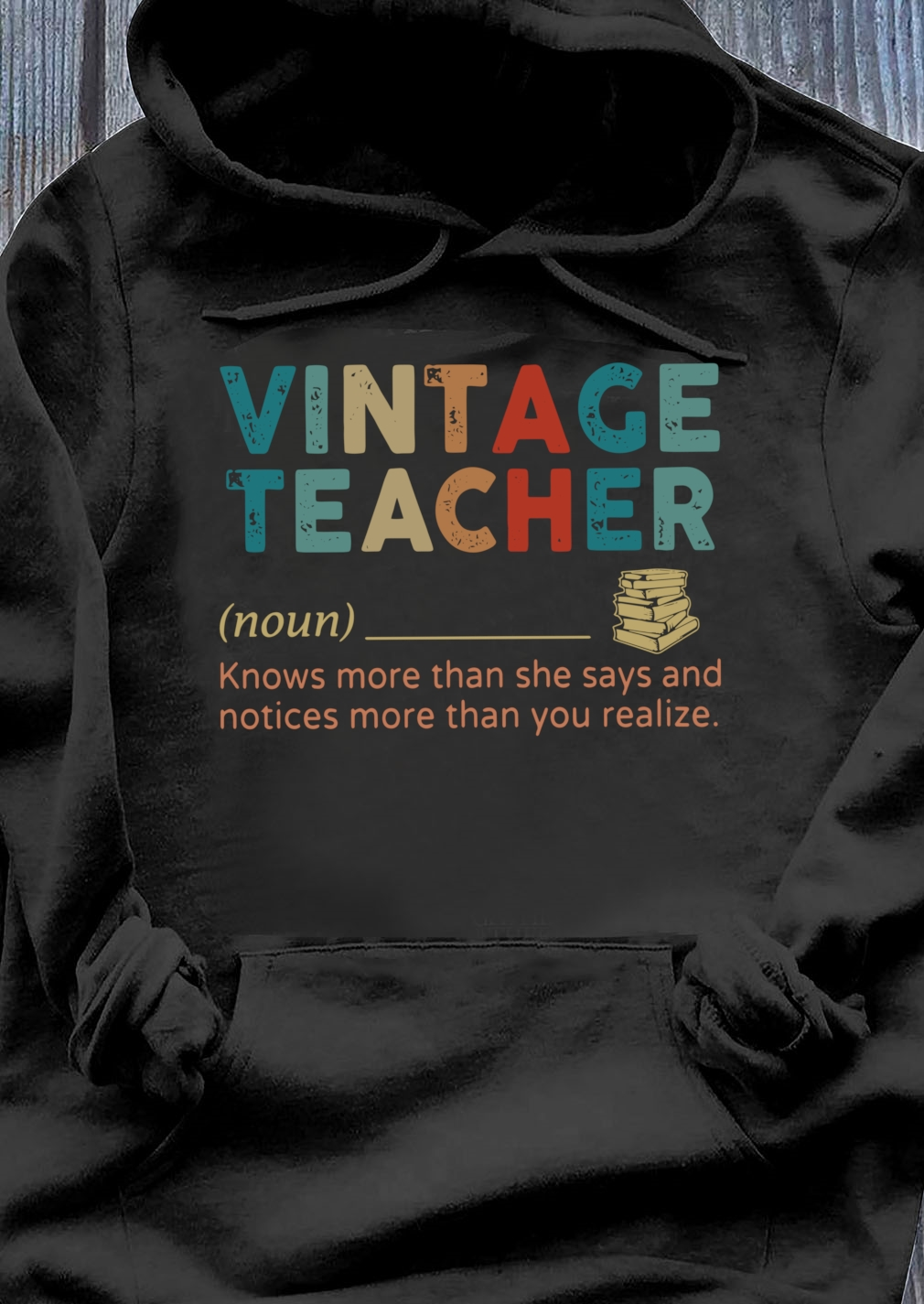 Vintage Teacher Noun definition shirt Hoodie