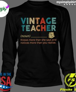Vintage Teacher Noun definition shirt Longsleeve black