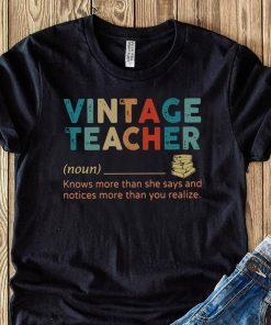 Vintage Teacher Noun definition shirt