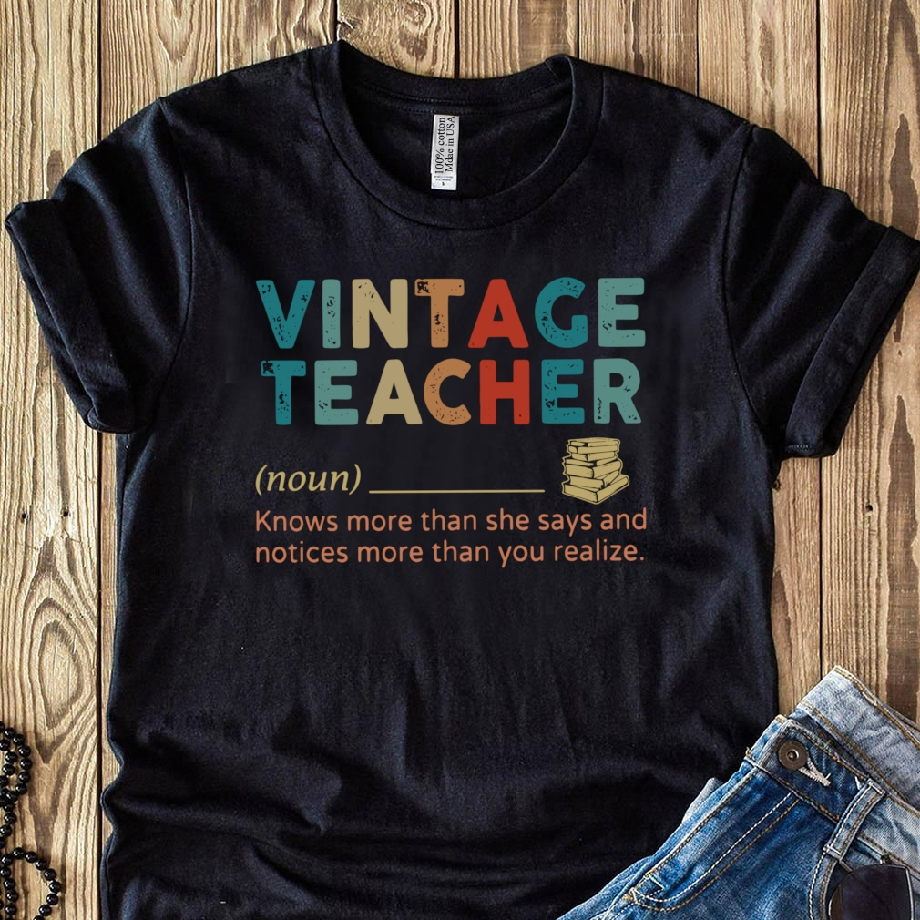 Vintage Teacher Noun definition shirt