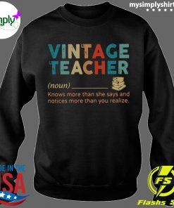 Vintage Teacher Noun definition shirt Sweater