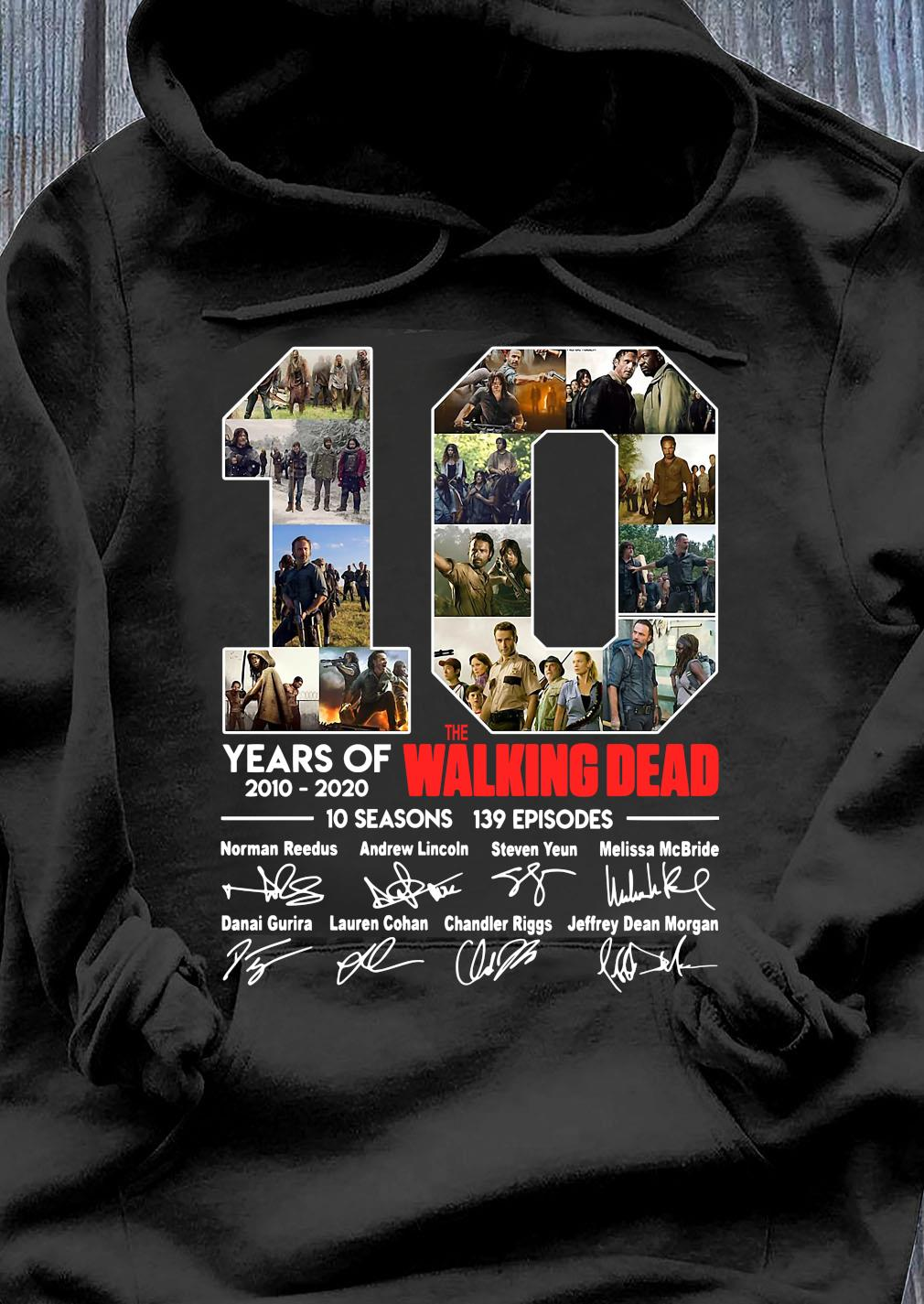 10 Years Of The Walking Dead Signature Shirt Hoodie