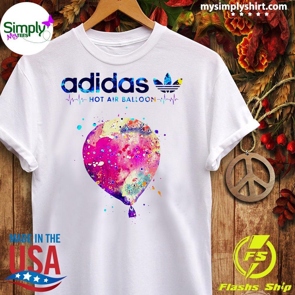 Adidas Logo Heartbeat Hot Air Balloon Shirt Ladies tee