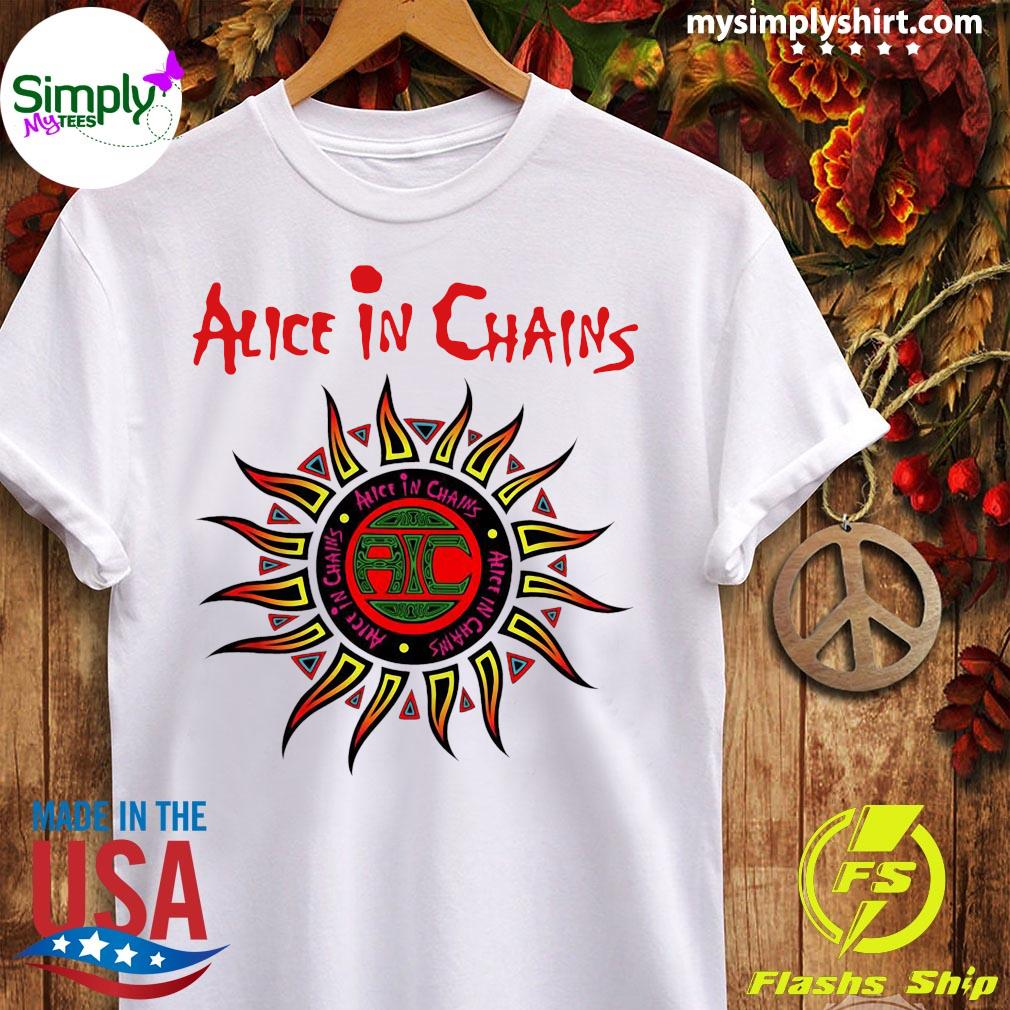 Alice In Chains American Rock Band Logo Shirt Ladies tee