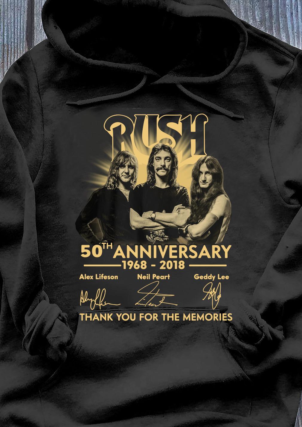 Anniversary Thank You For The Memories Rush Shirt Hoodie