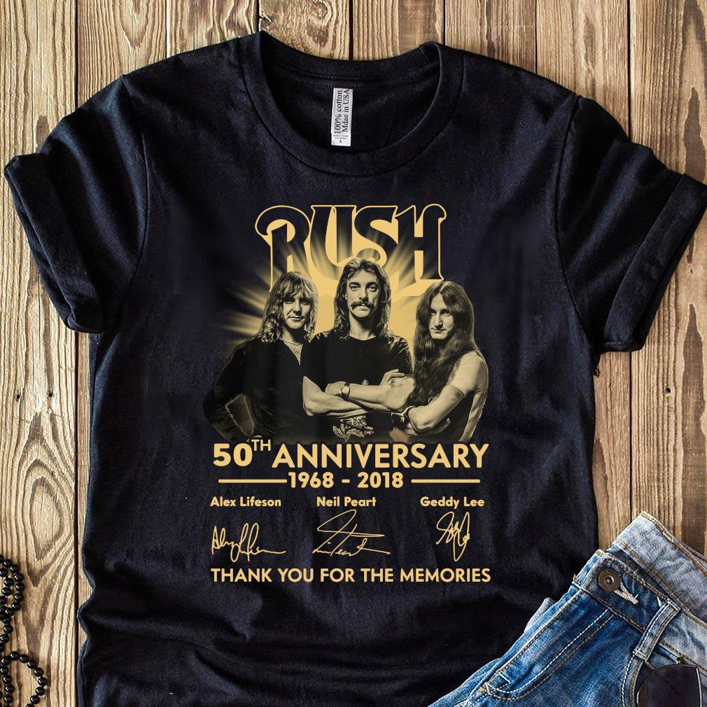 Anniversary Thank You For The Memories Rush Shirt