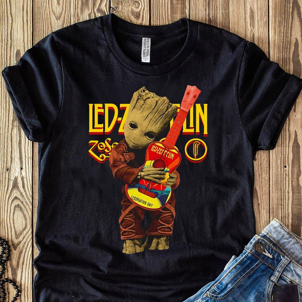 Baby Groot Hug Fox Racing T-Shirt Size S-4XL