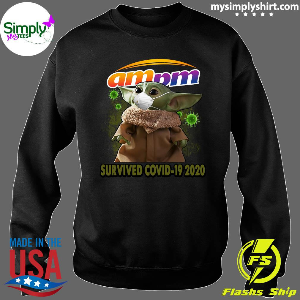 Baby Yoda Am Pm Survived Covid 19 2020 Shirt Sweater
