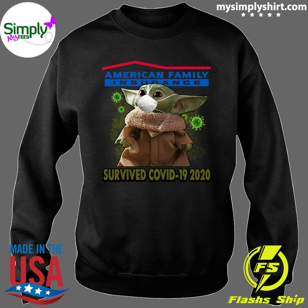 Baby Yoda American Family Insurance Survived Covid 19 2020 Shirt Sweater