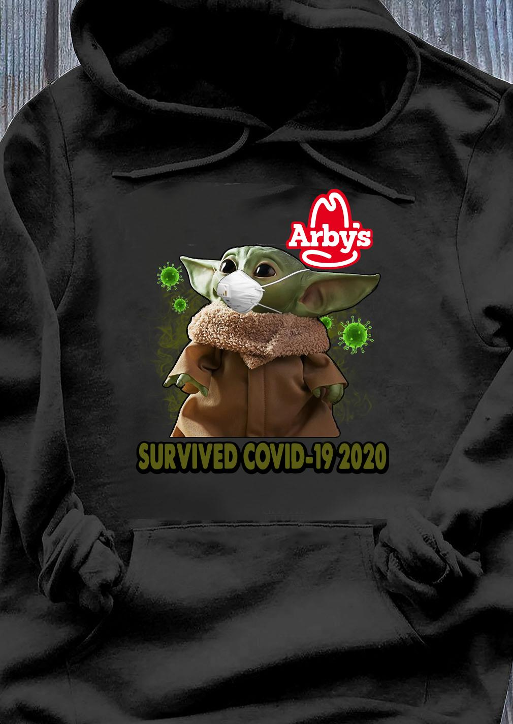 Baby Yoda Arbys Survived Covid 19 2020 Shirt Hoodie
