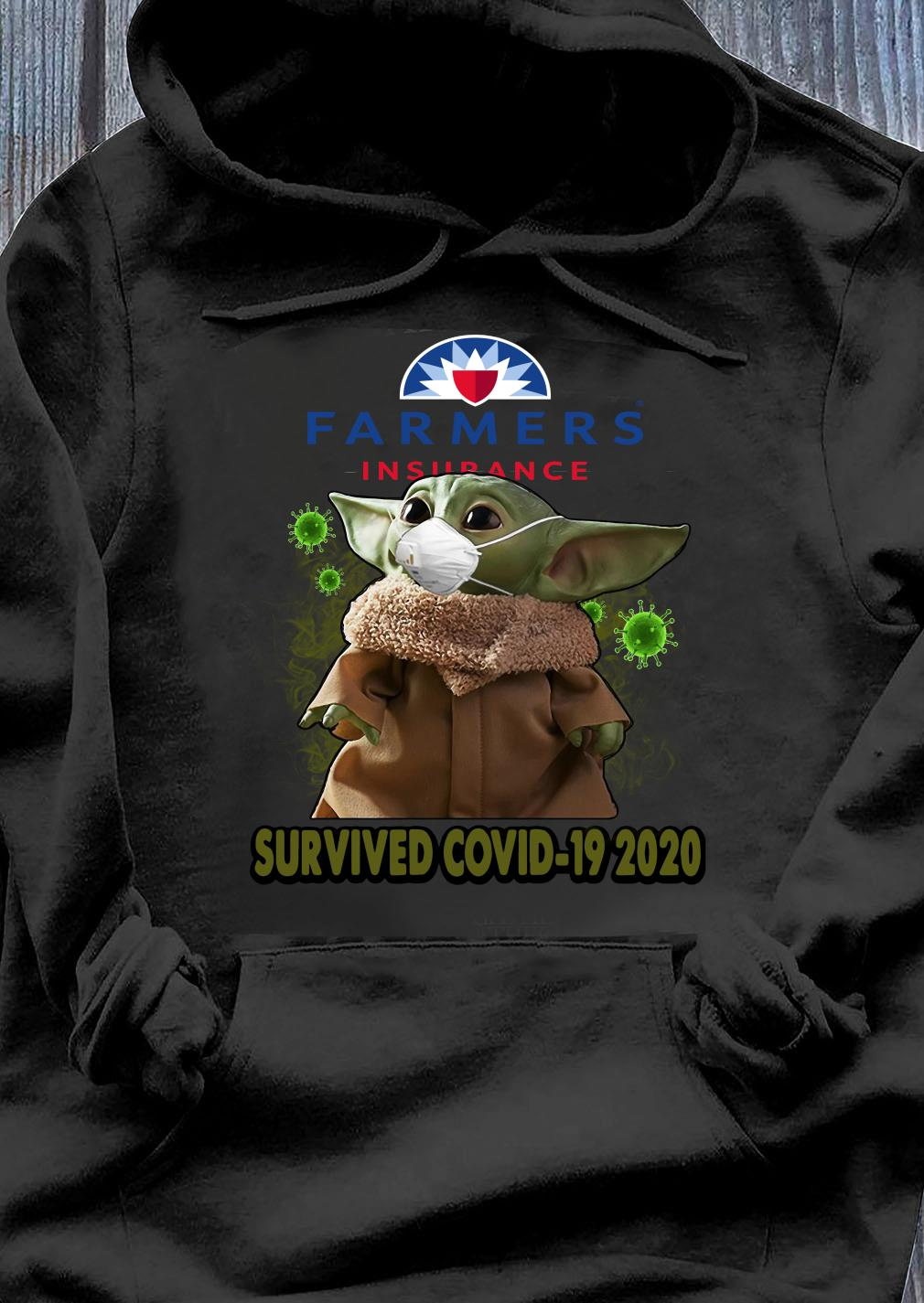 Baby Yoda Farmers Insurance Survived Covid 19 2020 Shirt Hoodie