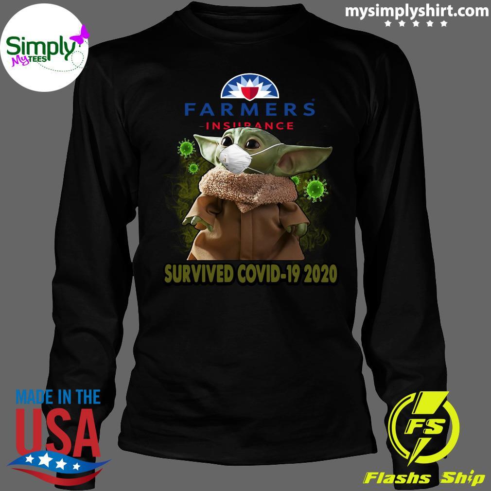 Baby Yoda Farmers Insurance Survived Covid 19 2020 Shirt Longsleeve