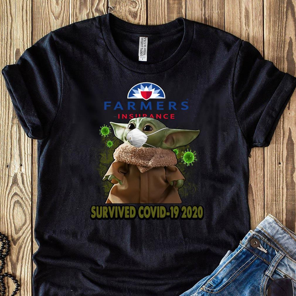 Baby Yoda Farmers Insurance Survived Covid 19 2020 Shirt